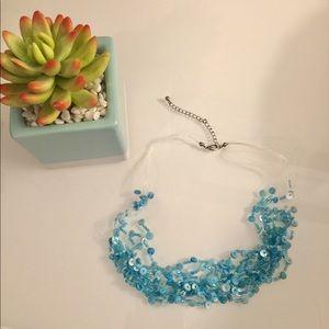 Jewelry - Multi layered light blue beaded necklace